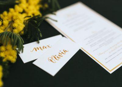 O&M – Platzkarten (Handlettering)