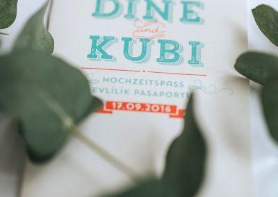 D&K – Hochzeitseinladung