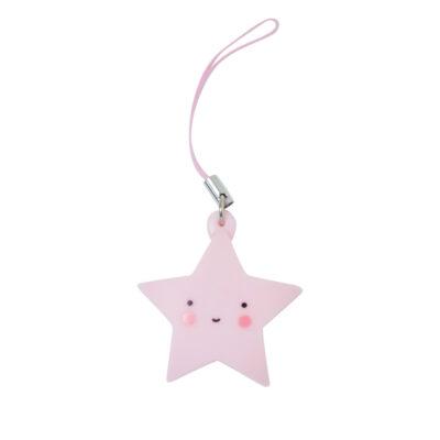 MICH019 LR charm pink star